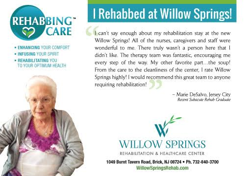 Rehabbing Care Willow Springs Marquis Health Services